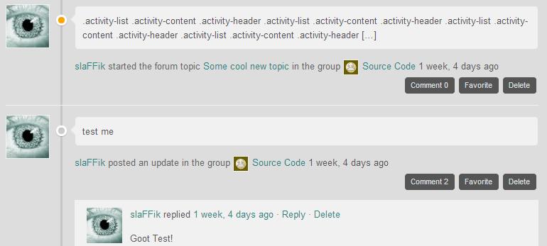 Commenter Theme - Activity