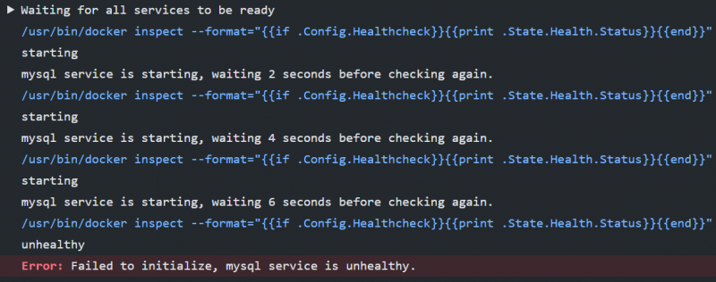 GitHub Actions: MySQL service is unhealthy - error while starting